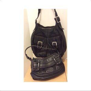 Lot of 2 Cole Haan dark chocolate  hobo handbags