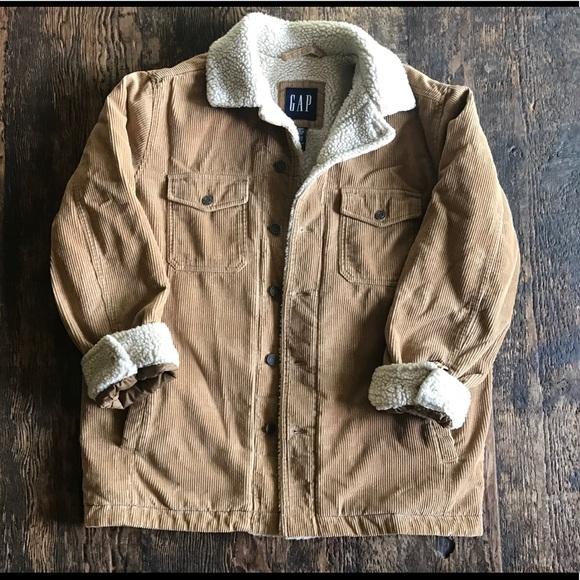 Gap Jackets Coats Brown Corduroy Sherpa Jacket Poshmark