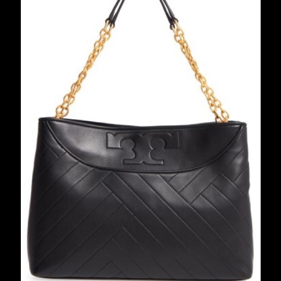Shoulder Bag for Women On Sale, Alexa, Black, Calfskin Leather, 2017, one size Tory Burch