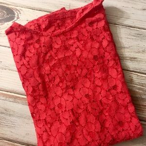 ZARA red lace tank top!❤️