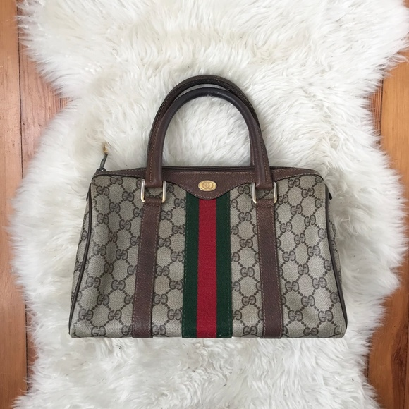 06af58a5126f Gucci Bags | Auth Red Green Stripe Boston Bag Purse Tote | Poshmark