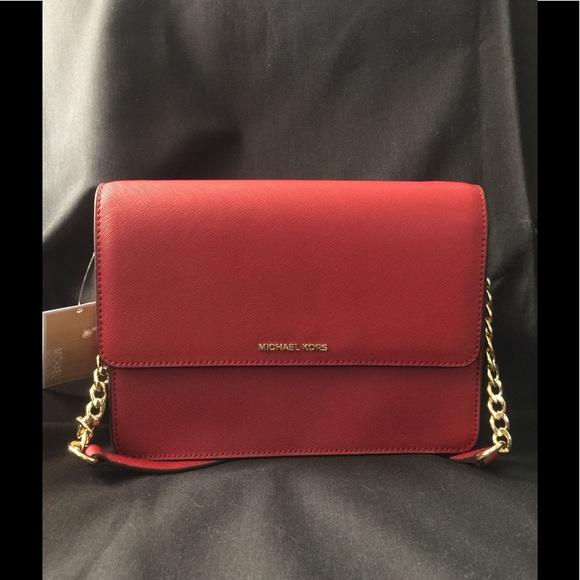 2681b8099394 Michael Kors Bags | Daniela Red Leather Crossbody | Poshmark
