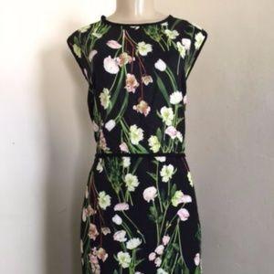 Victoria Beckham Target Dress Black English Floral