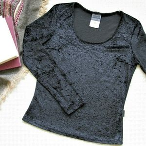 Vintage Versace jeans couture embossed velvet top
