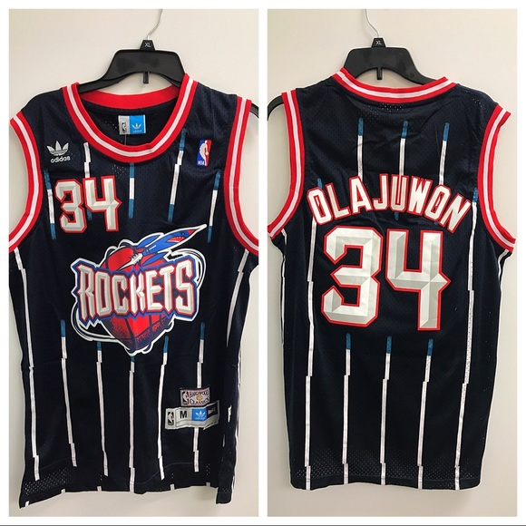 NWT Hakeem Olajuwon Houston Rockets Jersey Medium 80b915069