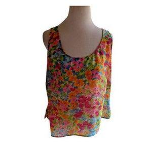 Emma James 16W Blouse Floral Plus Size Shell Tank