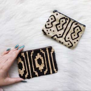 Vintage Dyed Animal Hyde Leather Card Wallets