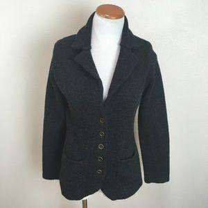 CAbi Gray Button Down Cardigan Sweater Medium #621
