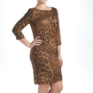 St. John Animal Print Dress Size 10