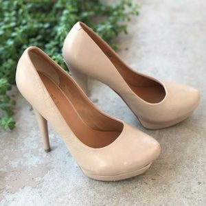 L.A.M.B. Leather Nude Pumps Heels