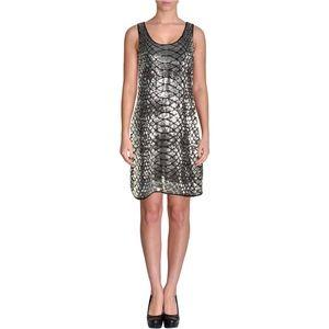 MICHAEL Michael Kors Womens Silver Sequin dress