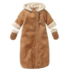 Baby Gap lux faux shearling convertible bunting