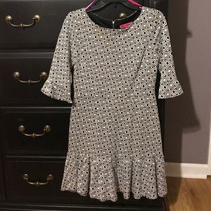 Betsey Johnson black and white dress NWOT