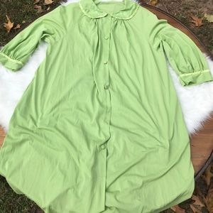 Vintage Silky Green Housecoat