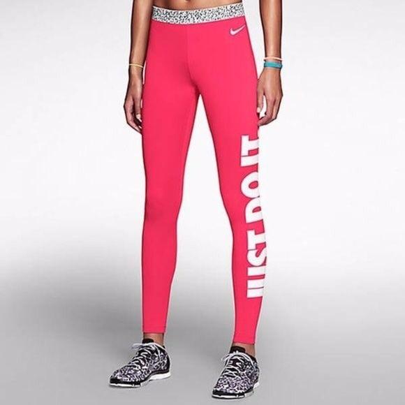 4f3db155d Hot Pink Nike Pro Khloe K Workout Leggings. M 5a0685422fd0b7a82b0b2b26