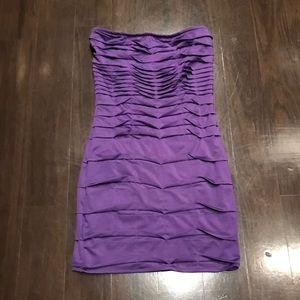 Nikibiki Lavender Strapless Mini Dress