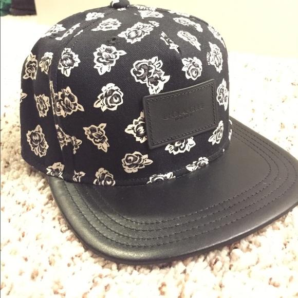 24ac4482ecb Coach Floral Flat-Bill Hat. M 5a068b90d14d7b7d090b441d