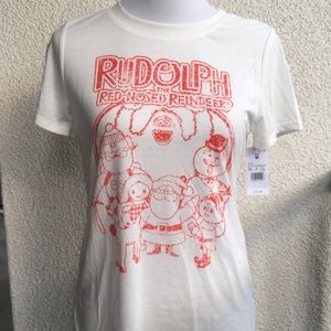 Tops - NWT Rudolph the Red Nose Reindeer Tee
