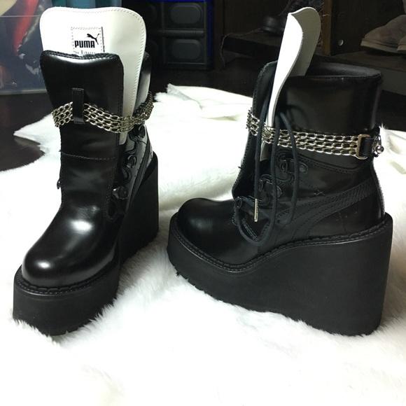 a3206a1c7c8 Puma Rihanna Fenty sneaker boot wedge