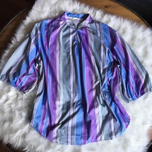 Vintage Striped Blue and Purple Tunic