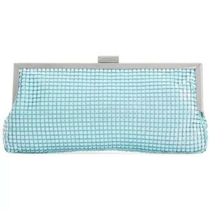 style & co darcy small frame clutch sky blue