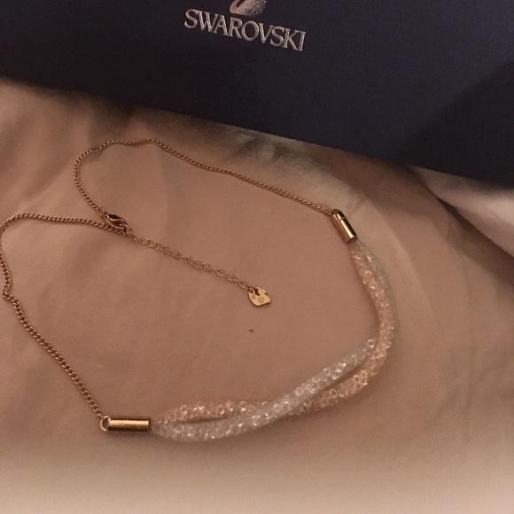 ddd68d28a2a0 Swarovski Stardust Necklace with Swan Logo