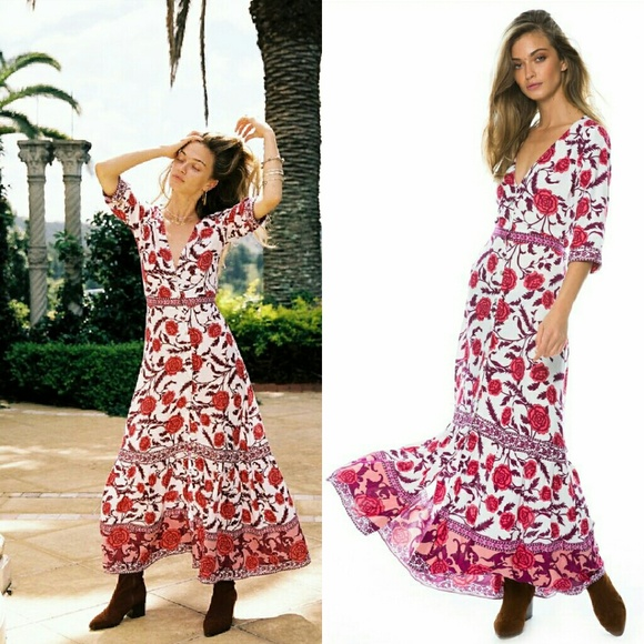 92577652175b9 Arnhem Dresses   New Carolina Rose Maxi Dress Blush Red M 10   Poshmark