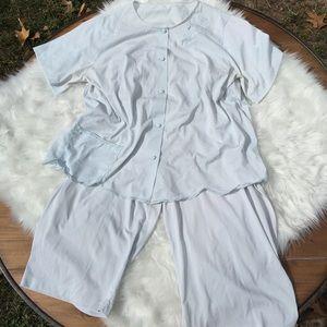 Vintage 1960's Two Piece Pajama Set