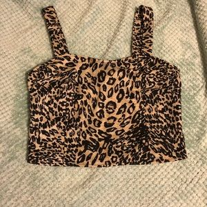 NWT Cheetah Print Crop Top by Cotton On