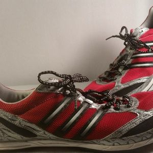 ADIDAS RED ORIENTAL LOGO TRACK SPIKED RACER SZ 11