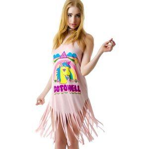 """Go To Hell"" pink KILLSTARCO dress"