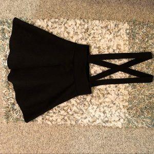 Black Frenchi Suspenders Skirt