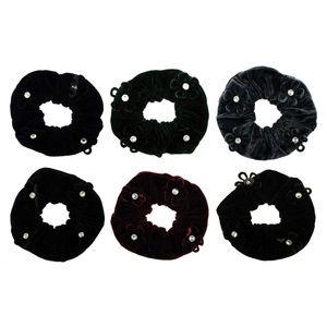 Accessories - Bundle of 12 Scrunchie hs295 assorted color velvet