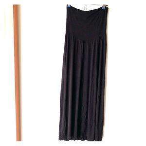 Motherhood Maternity Black maxi skirt size small