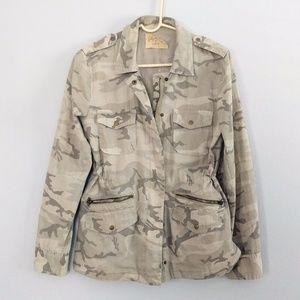 Lily Aldridge for Velvet Camouflage Jacket