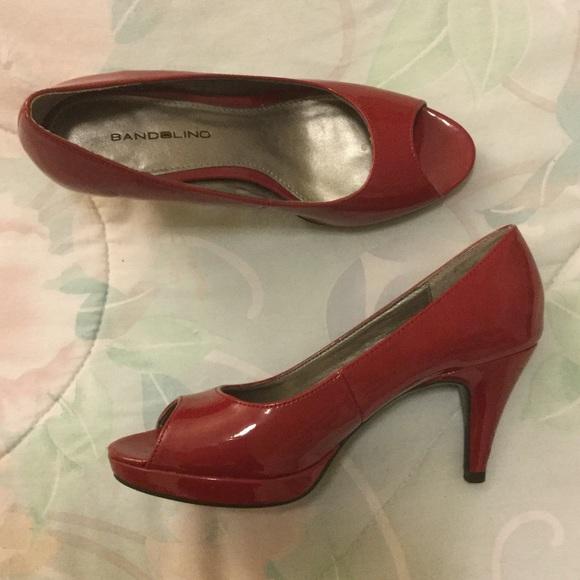 23dafb7013e2 Bandolino Red Peep-toe Heels