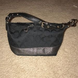 Coach purse black sparkly holidays