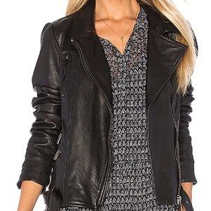 Leather Biker Jacket- Maison Scotch
