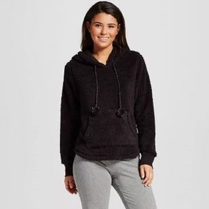 Brand New with tags🎁 Black Sherpa pullover hoodie