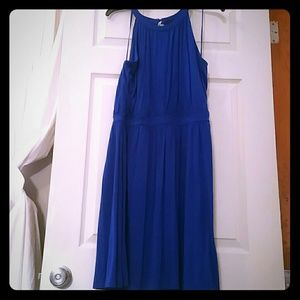 *Blue dress fits up to size 18
