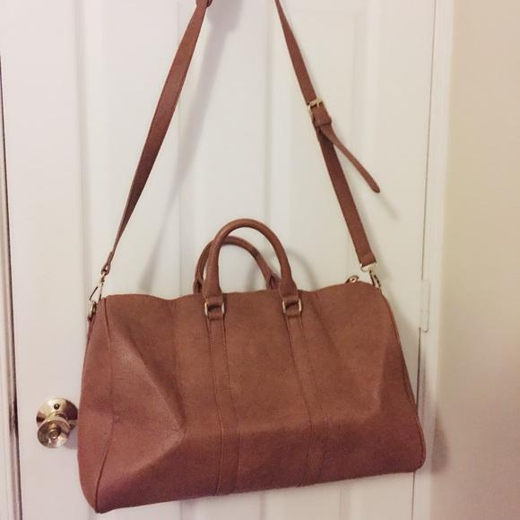 d5812500db18 JustFab Handbags - Cognac Weekender Duffel Bag