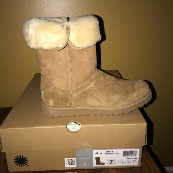 b0a2ab5454d UGG Michelle Chestnut Suede Boots - Never worn! NWT