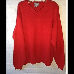 Red 100% cotton sweater