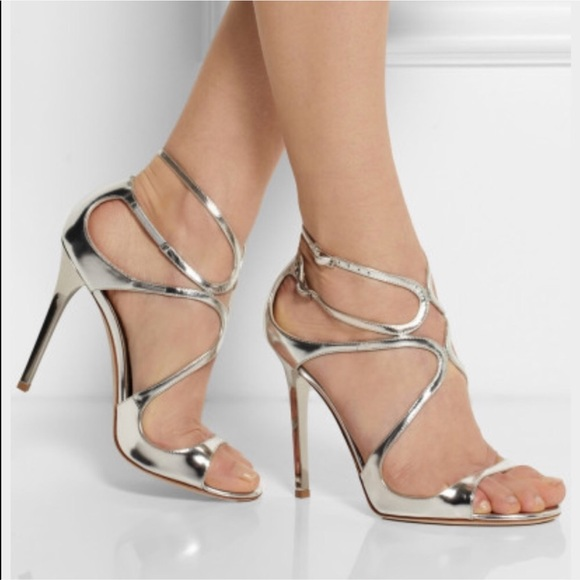 Jimmy choo Lang metallic leather sandals 8XW7QpLB7