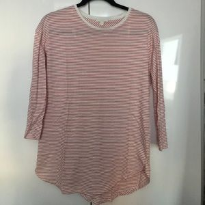3/4 sleeve tee- super cute red and white stripes!