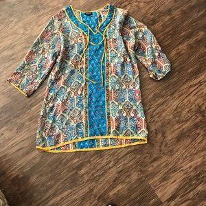 Silk Anthropologie Tolani Tunic Top Size M