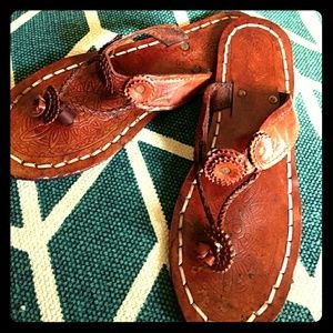 Shoes - Leather Boho Sandals- Handcrafted