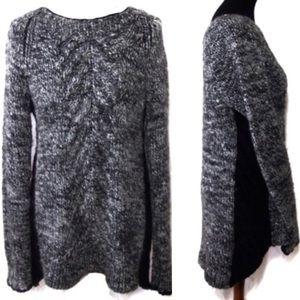 Elizabeth & James Chunky Gray Sweater Large