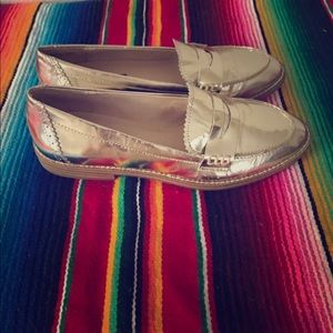 Shoemint Golden Loafers Size 6.5