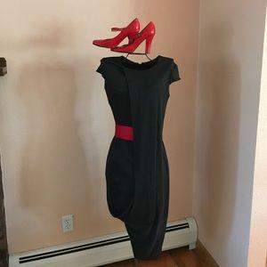 👜Iconic Alexander McQueen drape-front dress